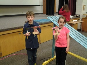Pinewood Derby Max and Liv