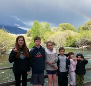 Kids Pic with rainbow